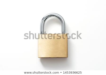 Zárolt lakat közelkép izolált fehér biztonság Stock fotó © supersaiyan3