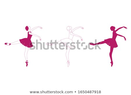 Elegant shapely beautiful ballerina Stock photo © stryjek