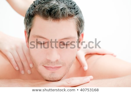 Wellness - couple getting a massage and cleansing Stock photo © Kzenon