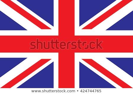 Angol zászló zászló Anglia gömb izolált fehér Stock fotó © Harlekino