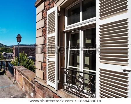 Vicolo castello view casa viaggio architettura Foto d'archivio © tepic