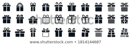 Színes ajándékok esküvő boldog terv doboz Stock fotó © kariiika