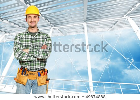Young handsome builder stock photo © Nejron