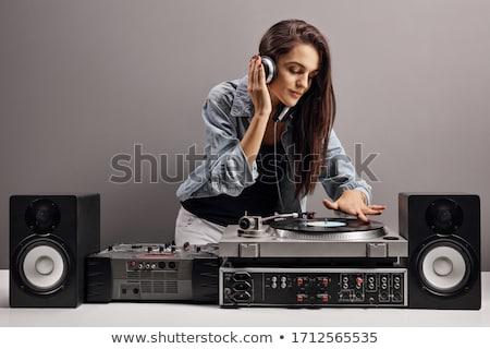 Güzel kadın seksi moda saç radyo Stok fotoğraf © Nejron