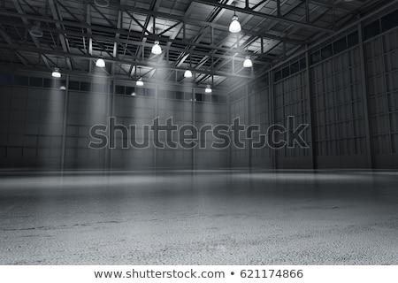 Vide entrepôt large vue intérieur Photo stock © russwitherington