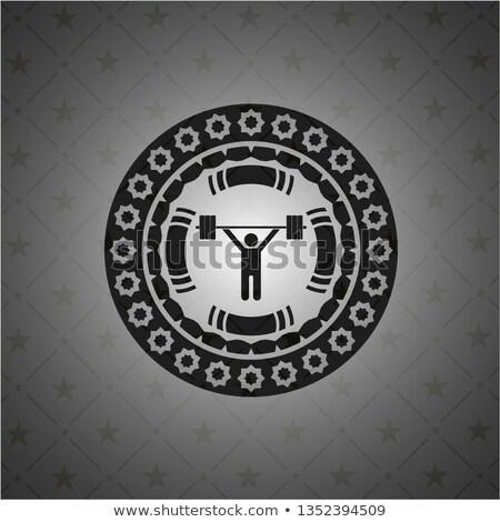 Metalen gewichtheffer barbell schild retro Stockfoto © patrimonio
