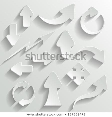 fehér · papír · nyíl · árnyék · üzlet · bemutató - stock fotó © essl