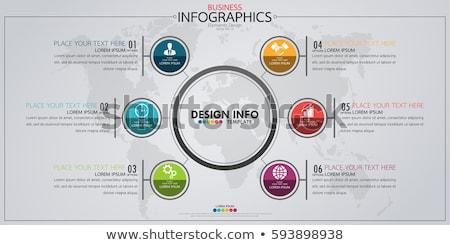 absztrakt · üzlet · infografika · illusztráció · mágnes · vektor - stock fotó © auimeesri