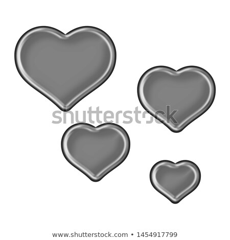 heart bevel silver Stock photo © nicemonkey