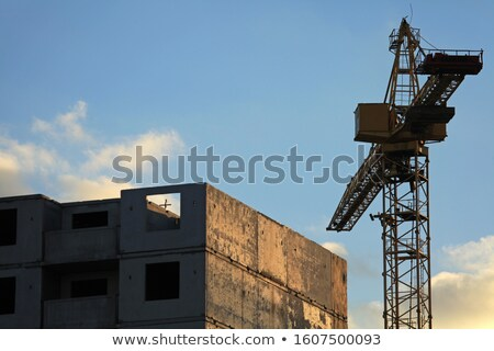 Frozen construction site, Ukraine Stock photo © joyr