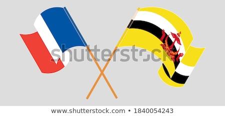 Франция Бруней флагами головоломки изолированный белый Сток-фото © Istanbul2009