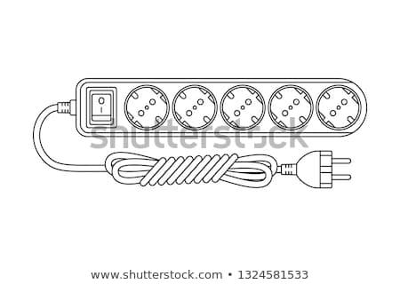 Beyaz güç kordon teknoloji kırmızı endüstriyel Stok fotoğraf © shutswis