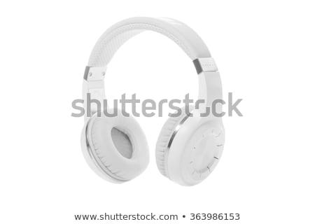 Rood moderne hoofdtelefoon geïsoleerd witte technologie Stockfoto © tetkoren