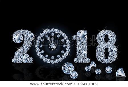 Diamond new year clock, vector illustration Stock photo © carodi