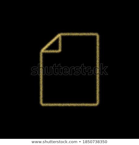 Pdf documento dourado vetor ícone botão Foto stock © rizwanali3d