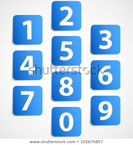 Stock photo: 4 Number Vector blue Web Icon