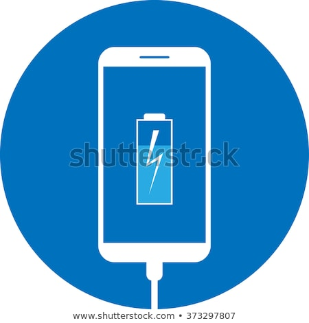 Mobile phone charging with solar energy - charger Stock photo © adamr
