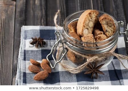 hagyományos · kekszek · sütik · mandulák · fény · étel - stock fotó © digifoodstock