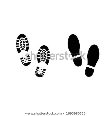 Chaussures imprimer blanche design fond silhouette Photo stock © m_pavlov