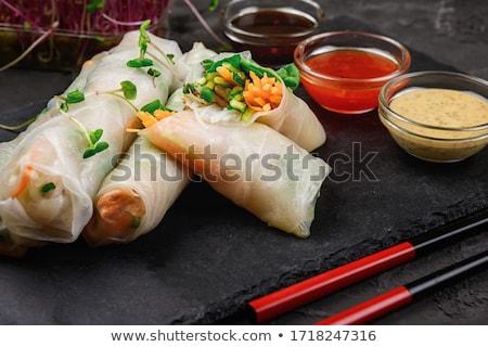 Sağlıklı vejetaryen salata Asya yemek Stok fotoğraf © M-studio