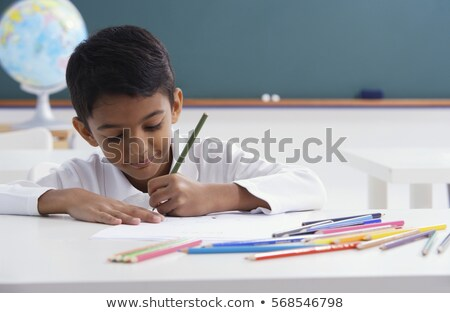 indians children with blackboard stock photo © adrenalina