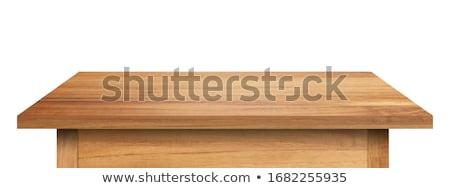 Stock photo: School on wooden table