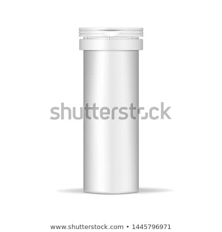 Medische container illustratie geneeskunde fles witte Stockfoto © bluering