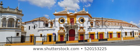 aréna · darab · szobor · híres · Spanyolország · épület - stock fotó © lunamarina