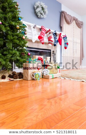 Decorated upmarket home at Christmas Stock photo © ozgur