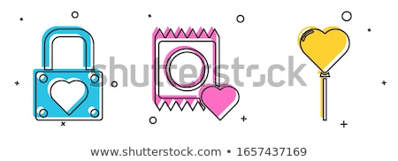 Condoms set and packages - contraception symbols Stock photo © gomixer