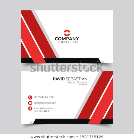 set of blue polygonal business stationery vectors Stock photo © SArts