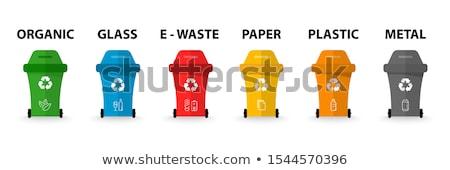 séparé · ordures · ensemble · isolé · blanche - photo stock © bluering