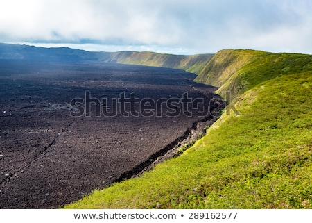 volcanic landscape at Sierra Negra at the Galapagos islands in E Stock photo © meinzahn