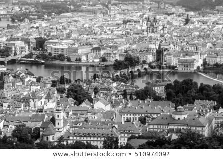 High angle view on historical part of Prague. Czech Republic Stock photo © Kirill_M