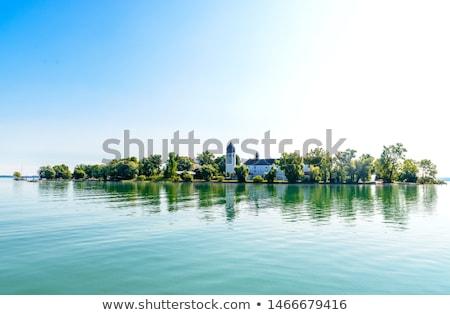 zeilboten · kasteel · meer · panoramisch · koning · boten - stockfoto © kb-photodesign