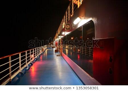 Oceano noite estilizado pier água assinar Foto stock © tracer