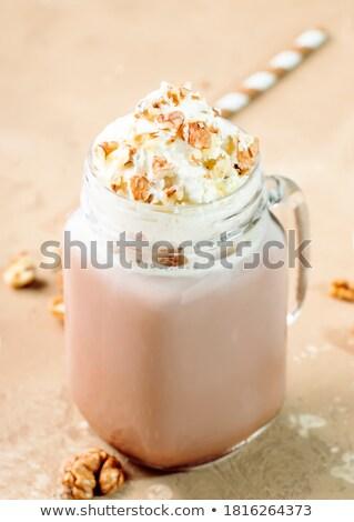 hot milk with cocoa and spice Stock photo © M-studio
