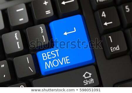 Stock fotó: Kék · legjobb · film · numerikus · billentyűzet · billentyűzet · 3d · render