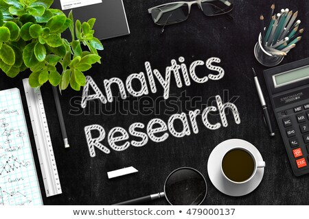 Black Chalkboard with Analytics Research. 3D Rendering. Stock photo © tashatuvango