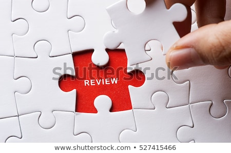 Opinion on Red Puzzle. Stock photo © tashatuvango