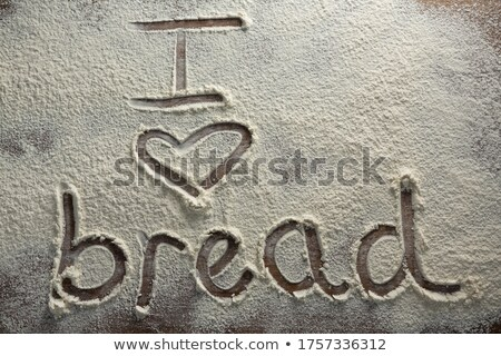 Kelime sevmek ekmek yazılı un Stok fotoğraf © wavebreak_media