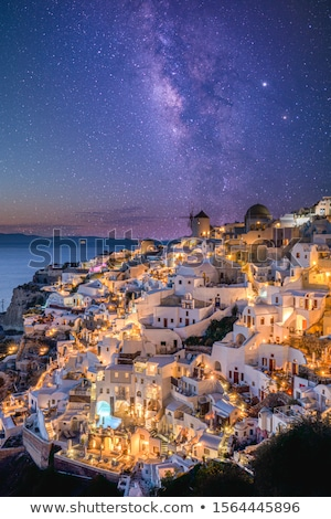 Oia village by night Stock photo © vwalakte