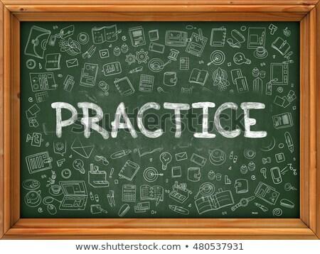 best practice   hand drawn on green chalkboard stock photo © tashatuvango