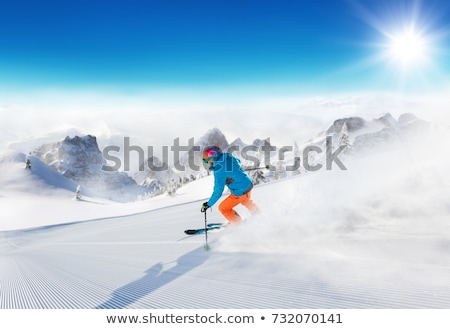 skiers on top of mountain stock photo © is2