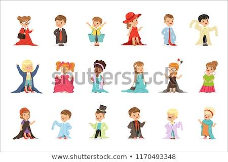 Meisje kleding business kind telefoon praten Stockfoto © IS2