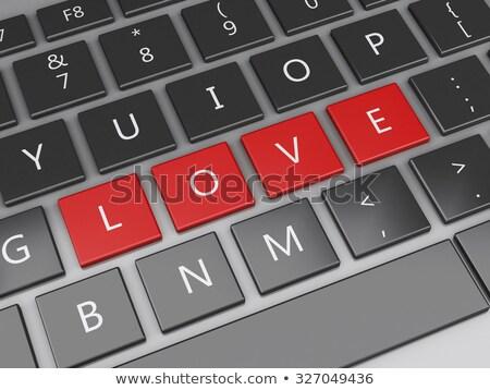 ноутбука любви письме изометрический реалистичный Сток-фото © Genestro