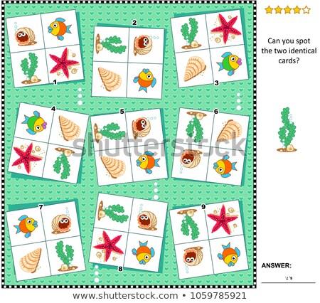 Kinderen puzzel spel zee shell Stockfoto © adrian_n