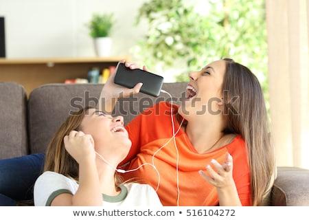 подростков друзей слушать музыку портрет дружбы Сток-фото © IS2