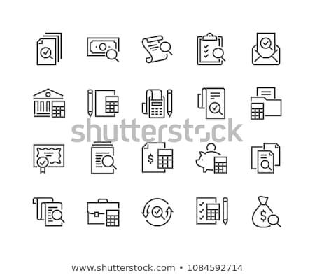 Calculadora auditar negócio dinheiro serviço Foto stock © Zerbor
