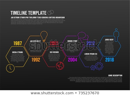 Dark Minimalist Infographic report template with hexagons Stock photo © orson